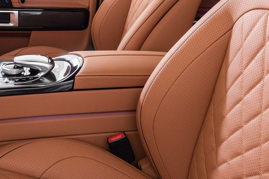 Leather center console