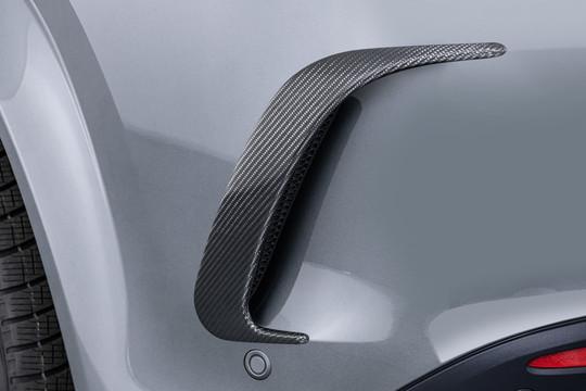 Carbon rear fascia attachments