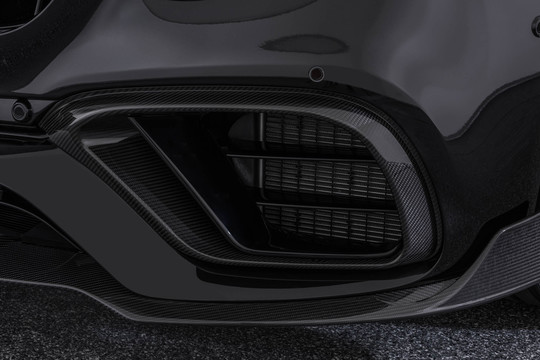 Carbon front fascia attachments glossy