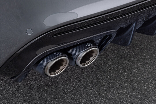 Carbon exhaust tailpipes