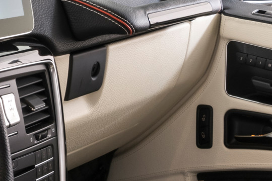Leather dashboard underpaneling