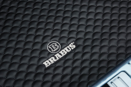 Leather trunk mat, quilted