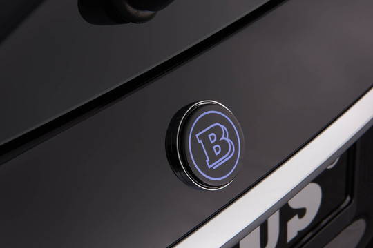 BRABUS emblem on trunk lid or hatch illuminated