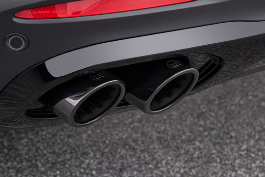 Exhaust tips black chrome