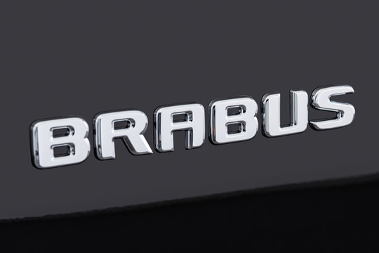 BRABUS logotype on trunk chromed