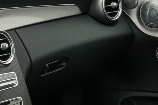 Leather lower section of dashboard