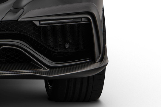 Carbon front fascia attachments