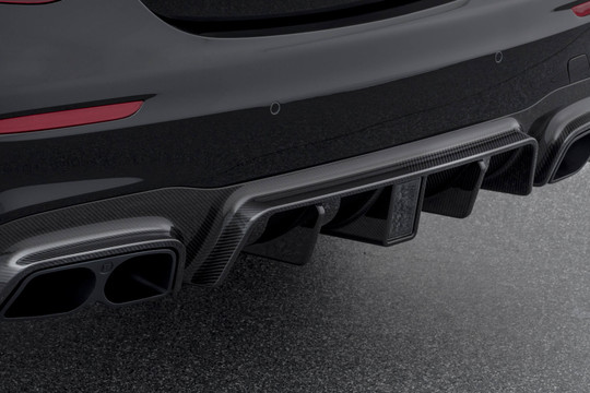 Carbon rear diffuser glossy