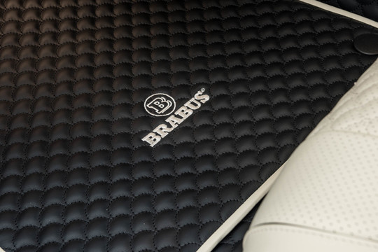 Leather floor mat, quilted