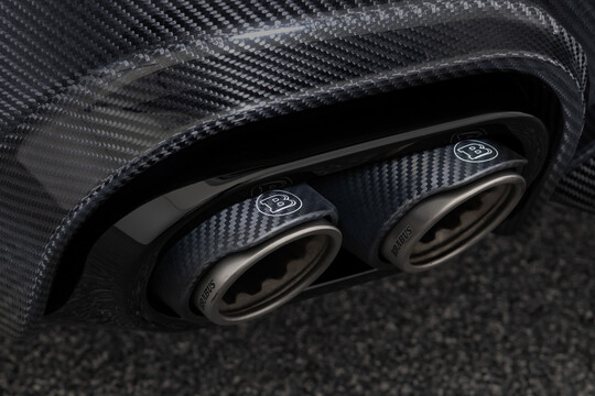 Klappen-Sportauspuffanlage mit Carbon-Titan Endrohren