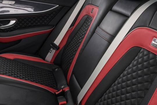 Leather rear armrest