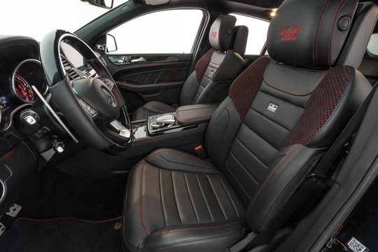 Panel front seats leather