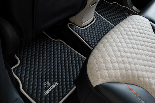 Floor mats leather quilted