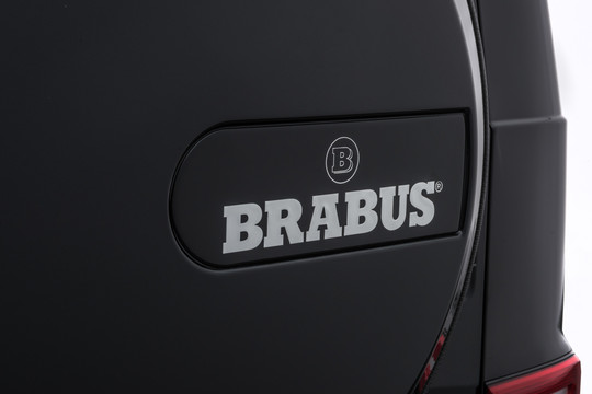 BRABUS emblem on spare wheel cover