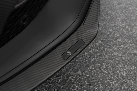 Carbon front spoiler lip glossy