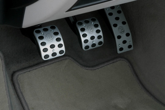 Aluminium pedal pads manual transmission