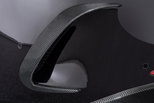 Carbon rear fascia attachments matt